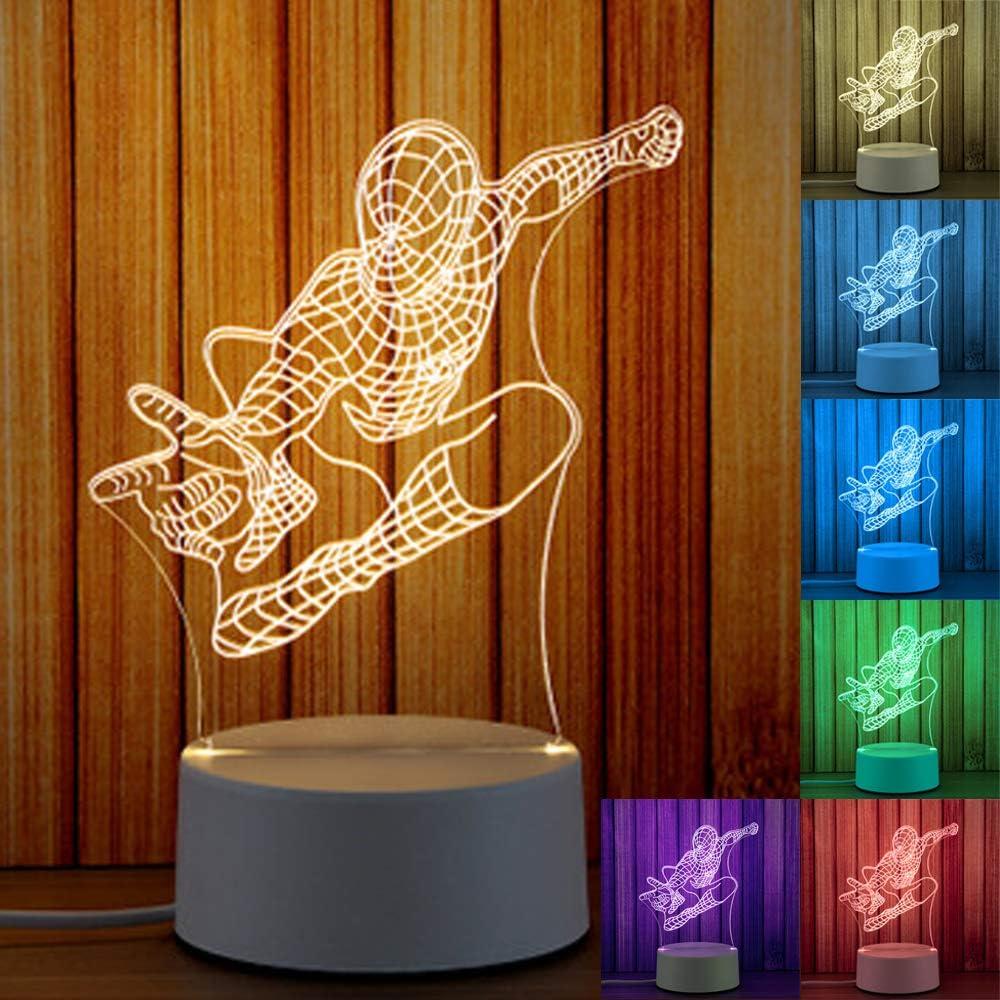 3d Proyecci/ón Noche Luz Illusion escritorio mesa Luz nocturna 7/colores cambiar Touch /& Control de mando a distancia para Navidad y varios Festival mejor regalo Liebe