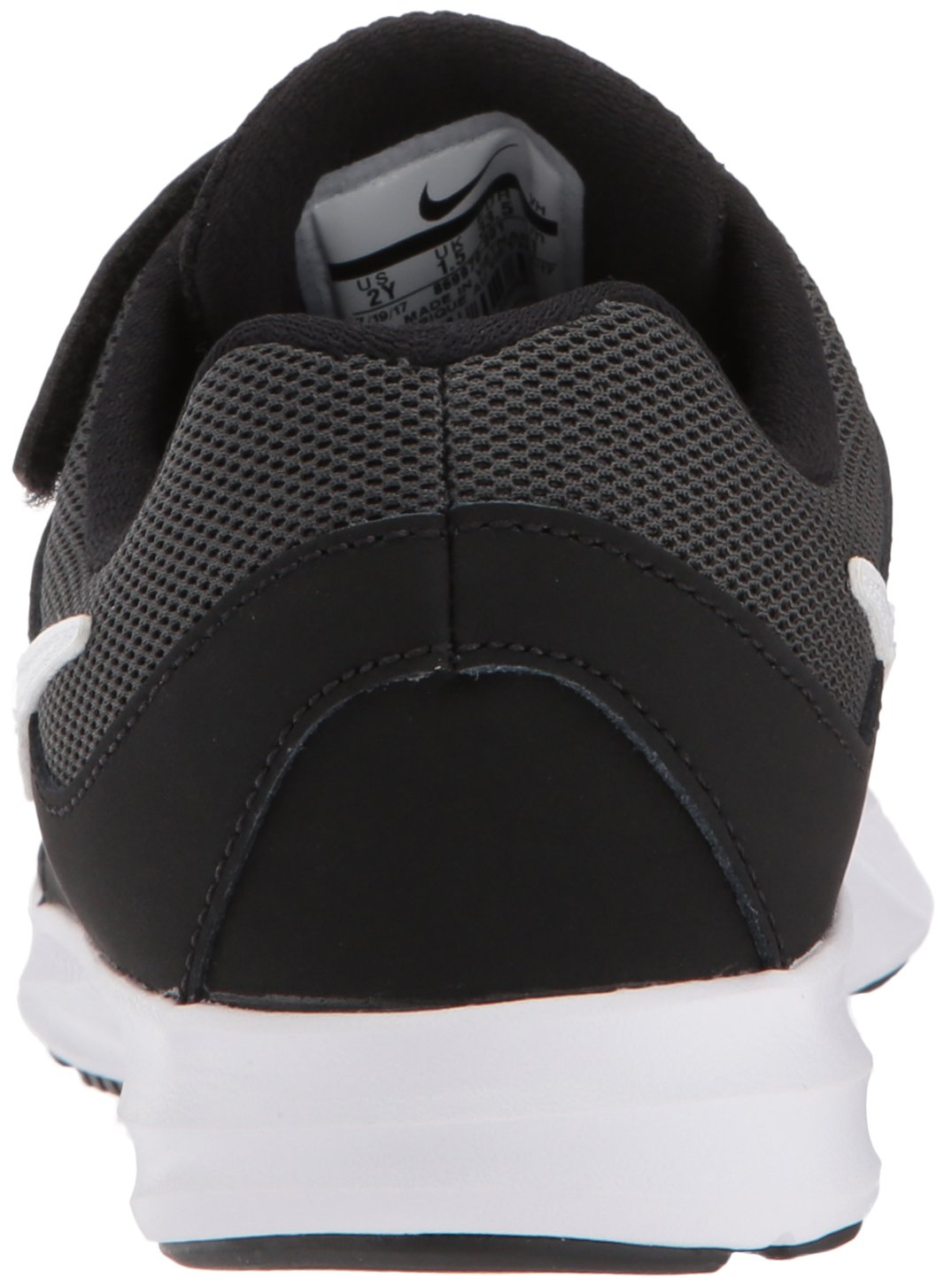 Nike Boys' Downshifter 7 (PSV) Running Shoe, Black/White-Anthracite, 3 M US Little Kid by Nike (Image #2)