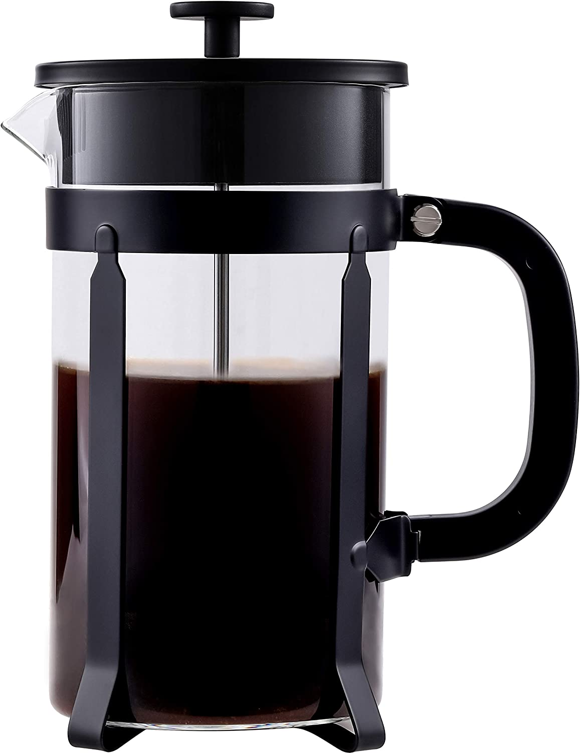 34 Oz French Press Coffee Maker With Effective Filtration System,French Press Borosilicate Glass,French Press Stainless Steel Glass,Glass Stainless Steel Coffee Maker French Press
