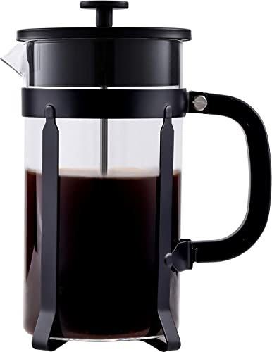 French Press Coffee Maker Glass 34 Oz,French Press Coffee Maker 1000ml,French Press Black,French Press 34 Oz Glass,French Press Borosilicate Glass 1 Liter,Black French Press Coffee Maker