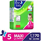 Fine Baby Diapers Mother's Touch Lotion, Maxi 10-22Kgs, Mega Pack, 70 Count