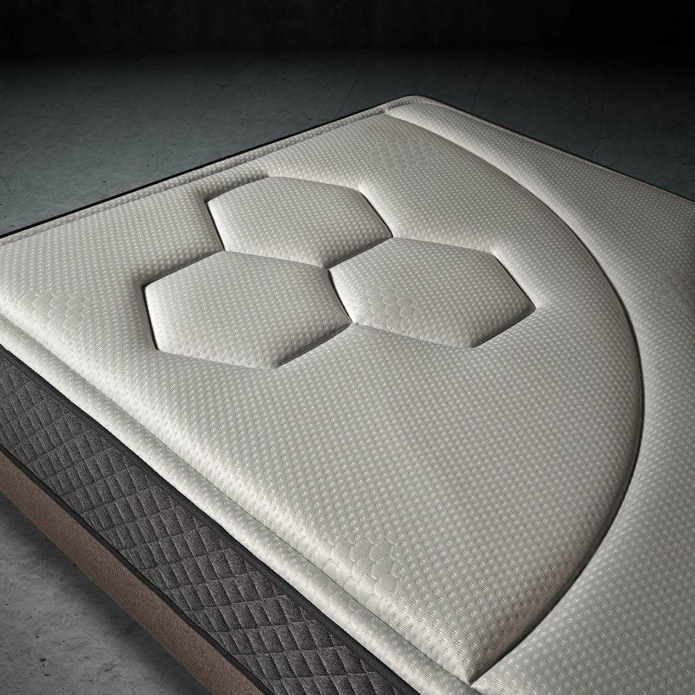 Komfortland Colchón viscoelástico Memory Vex Foam con 5 cm de ViscoProgression Grafeno, Altura 25 cm Medida 90x180 cm: Amazon.es: Hogar