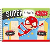 Children's Personalised Art/Drawing Pad A4 Spider Boy