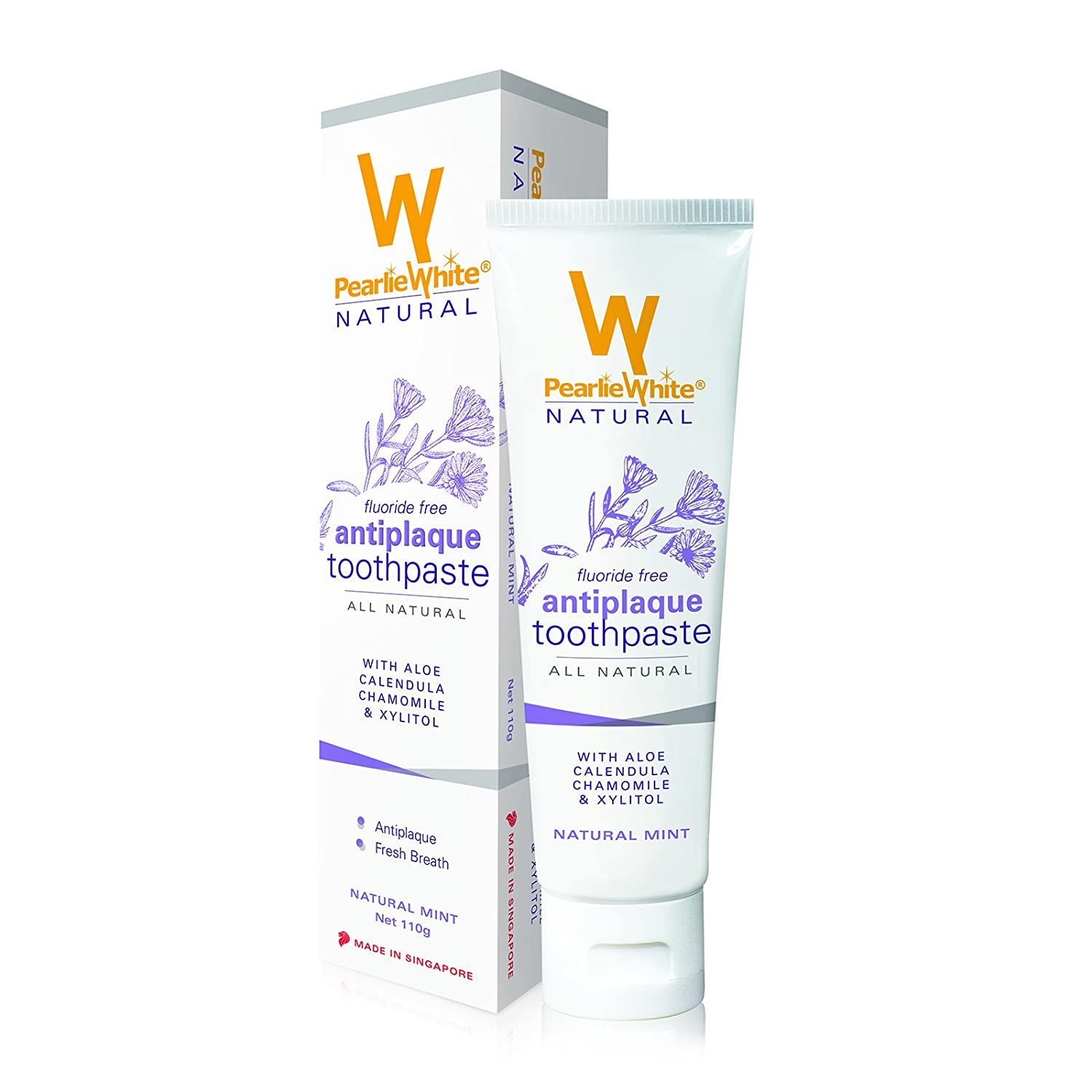 Pearlie White Natural Antiplaque Toothpaste (3.8oz) 110gm