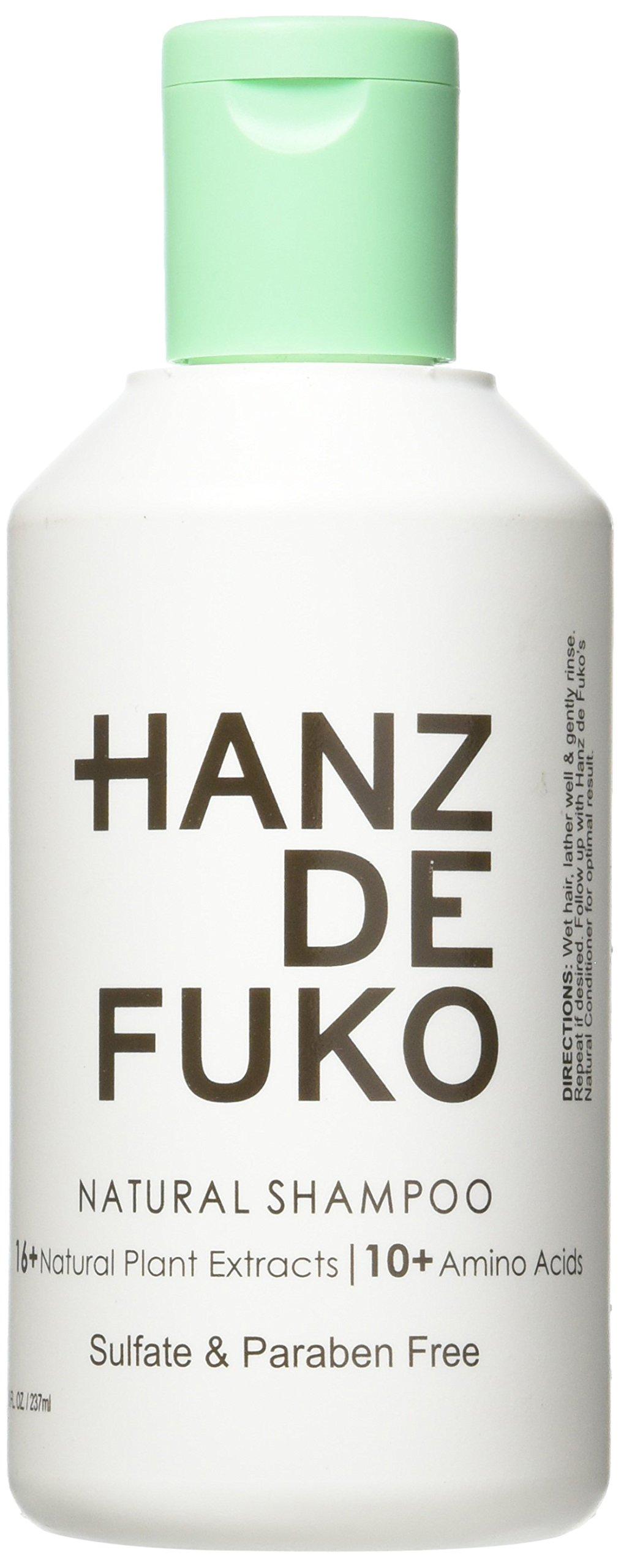 HANZ DE FUKO Natural Hair Shampoo 8 Fl oz Sulfate & Paraben Free