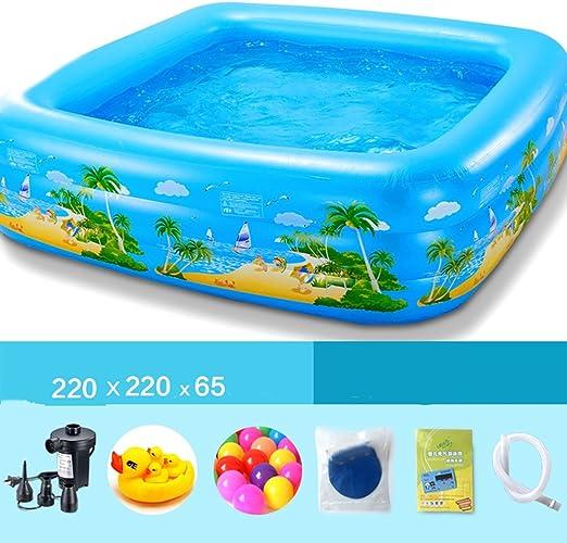 LYM & bañera Plegable Piscina Inflable Piscina Redonda Piscina ...