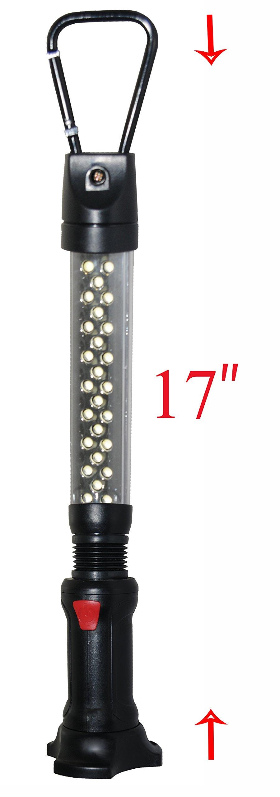 SleekLighting Work Light Terrific Toughness & Durability- Breathtaking Brightness - Powerful Magnetic Base- Swiveling Carabiner Hook