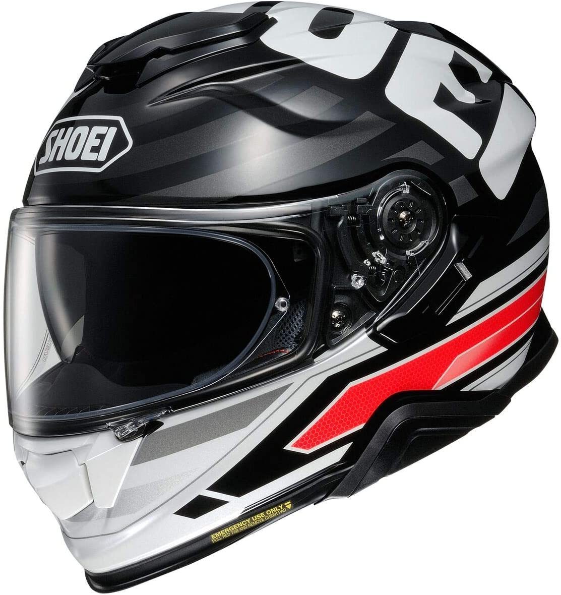 Shoei Black White Safety and trust Red Sz M Face GT-Air Beauty products He Insignia II Full