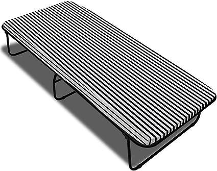 Somier Rejilla plegable acero y ressor con colchón 190 x 80 x ...