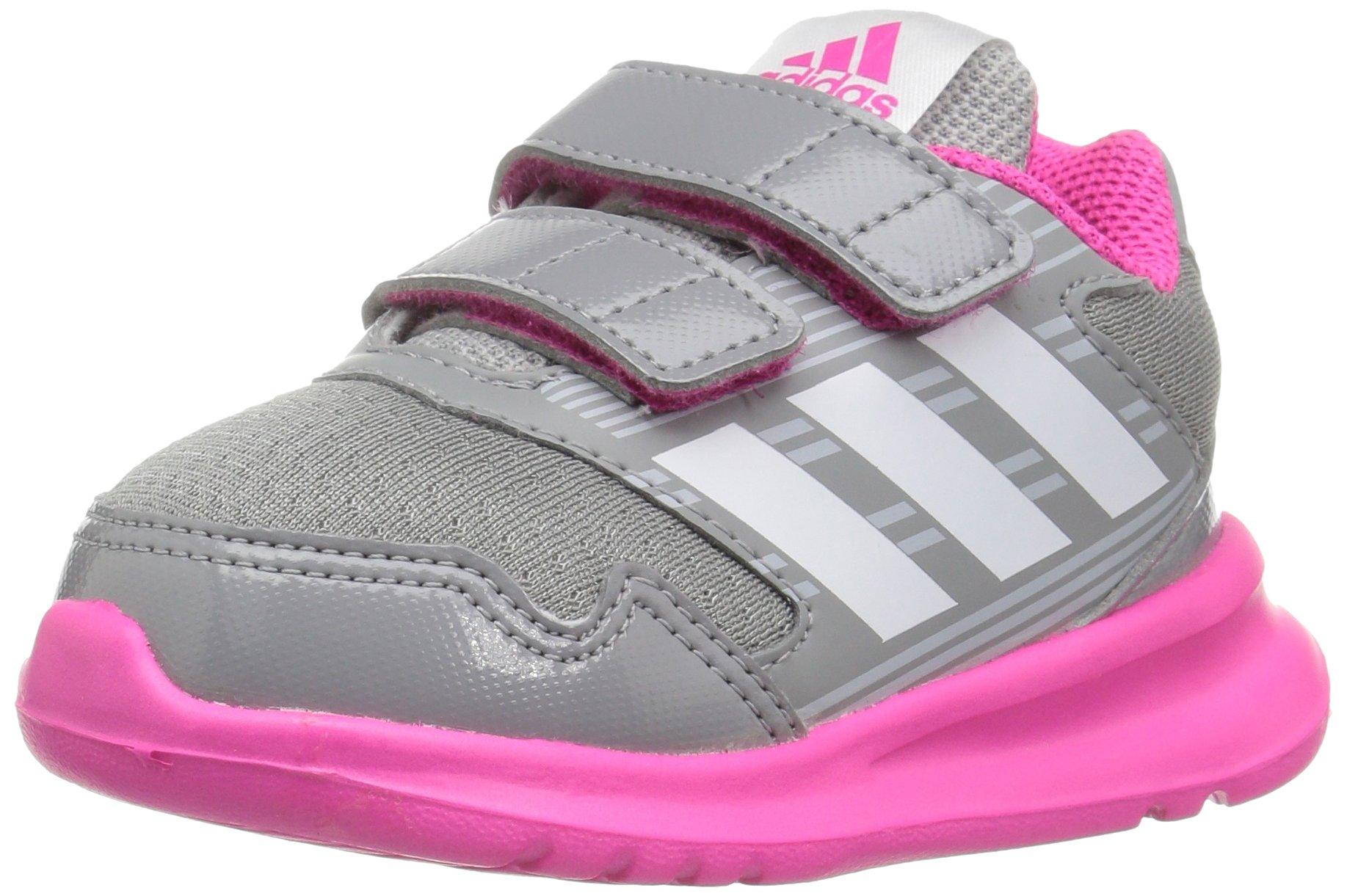 buy popular e1de3 d969c Galleon - Adidas Performance Girls  Altarun CF I Sneaker, Mid  Grey White Shock Pink, 9.5 M US Toddler