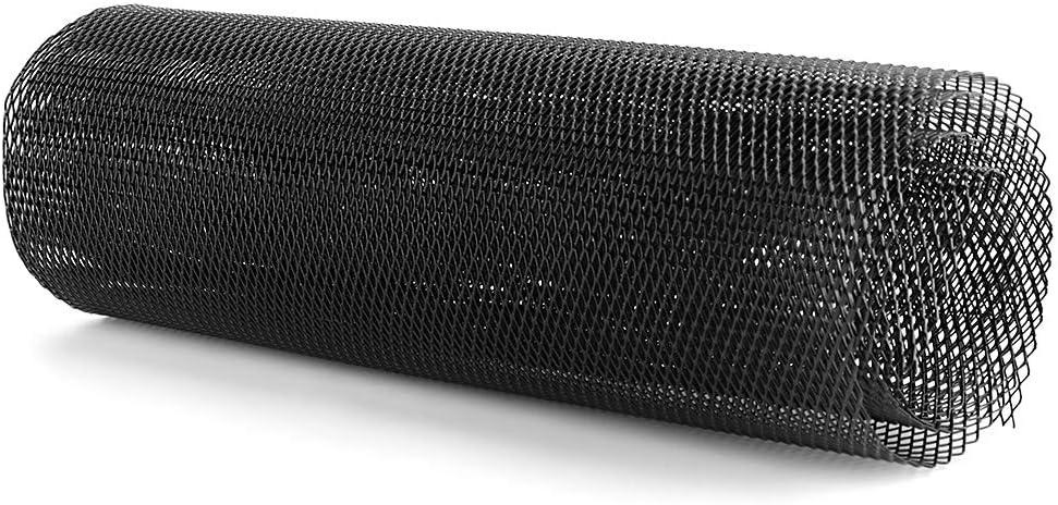 Fydun Griglie anteriori del radiatore Copertura del paraurti anteriore Copertura della griglia in rete Lega di alluminio nero 3 x 6 mm 100 33 cm