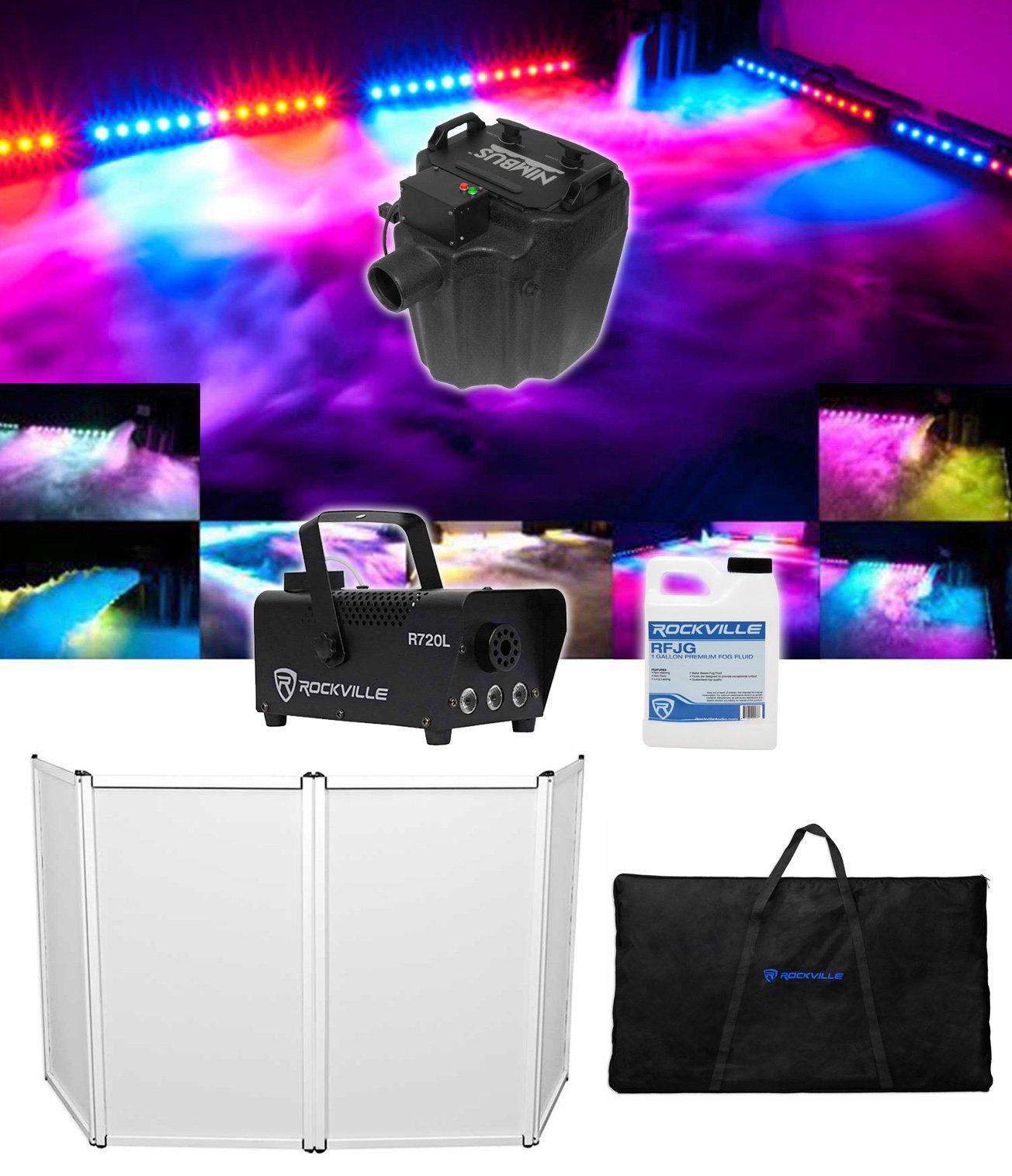 Chauvet DJ Nimbus Pro Plug/Play Dry Ice Fog Machine+DJ Facade+LED Fogger+Fluid