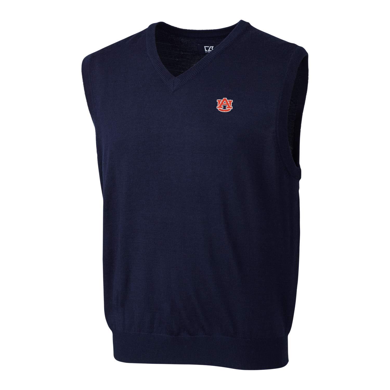 Cutter & Buck NCAA Auburn Tigers Douglas V-Neck Sweater Vest, XXL by Cutter & Buck