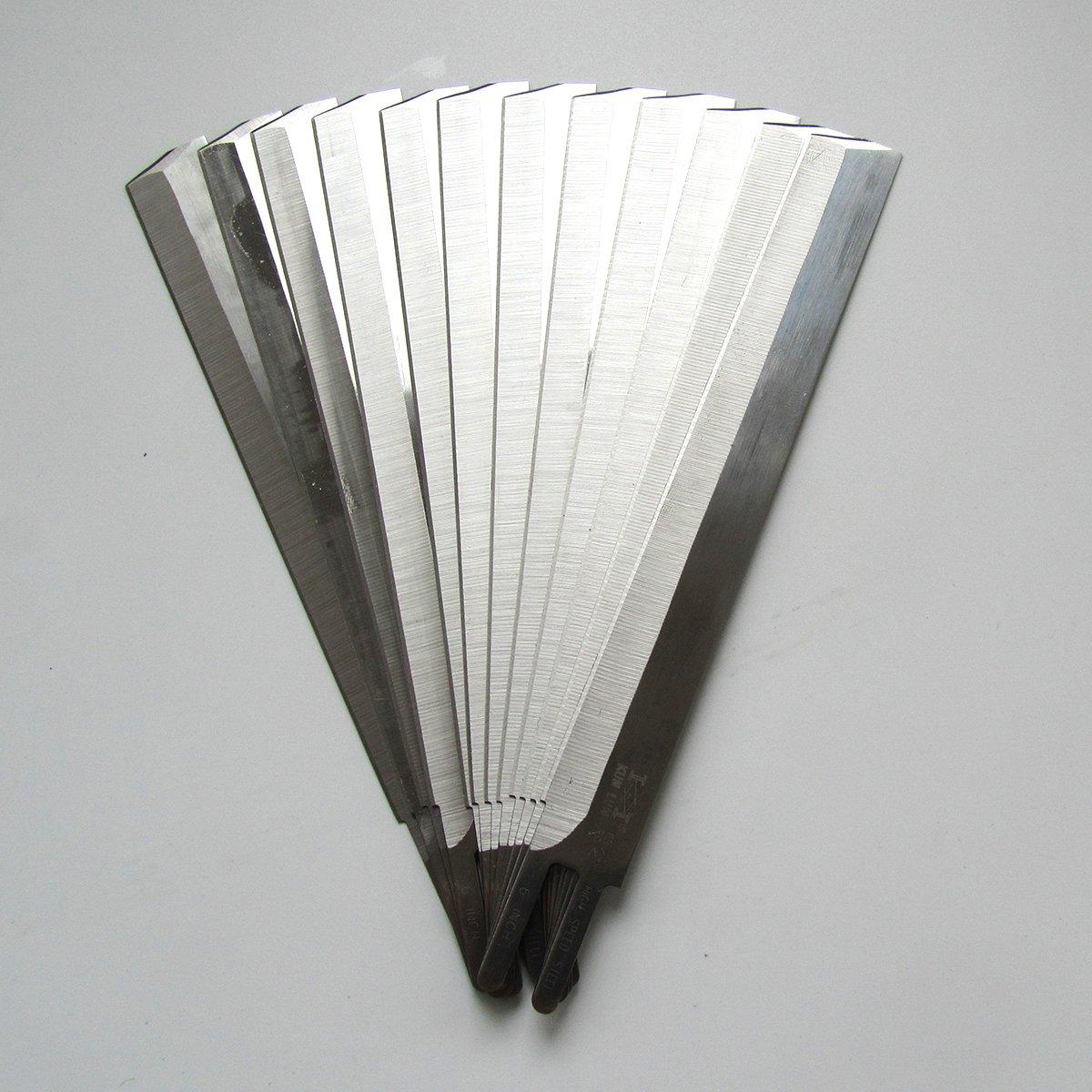 KUNPENG - For Eastman Straight Cutting Machine 6'' Knife Blades - 12 Pack #6E-KL-HSS