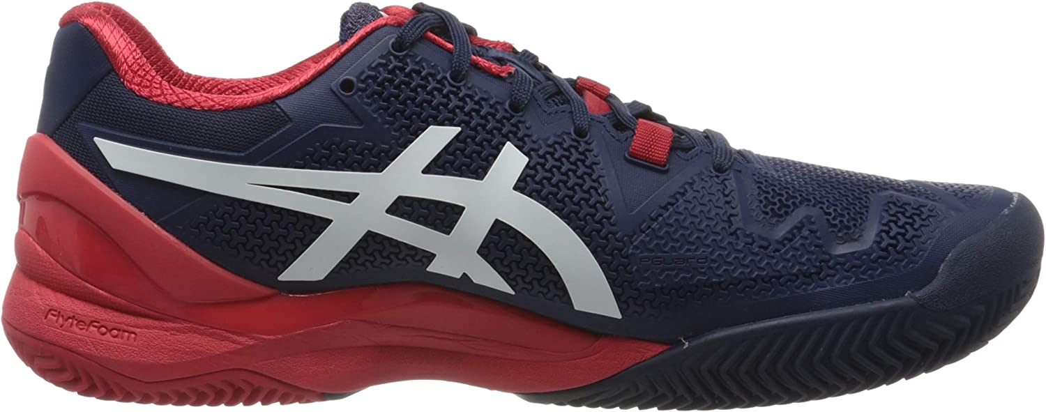 ASICS Herren Gel-Resolution 8 Clay Tennisschuh Peacoat Weiß