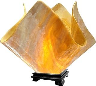 product image for Jezebel Signature VALA-FP16-HON Flame Glass Vase Lamp, Large, Honeysuckle