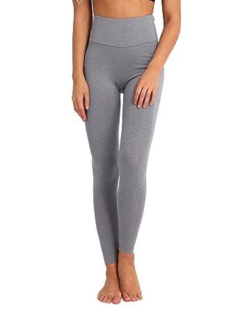 TiaoBug Femme Legging de Sport Pantalon de Yoga Fitness Jogging Collants  Taille Haut Legging Dos Plissé 67798136689d