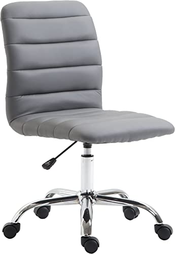 POLY BARK Polox Task Chair in Vegan Leather, Grey