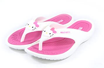 d581df4b0 Amazon.com : Hello Kitty Lovely Women Slippers Shoes for Girls Flip Flops  Pink US Size 5 Summer Beach Pool Spa : Beauty