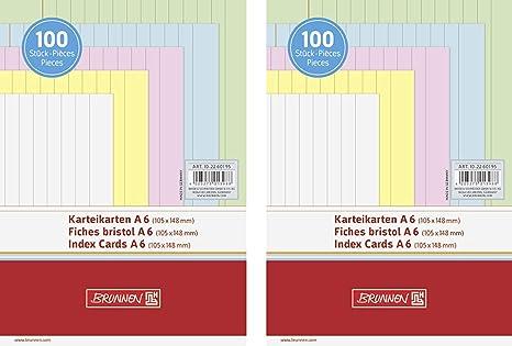 liniert 600 Herlitz Karteikarten DIN A8 5 verschiedene Farben