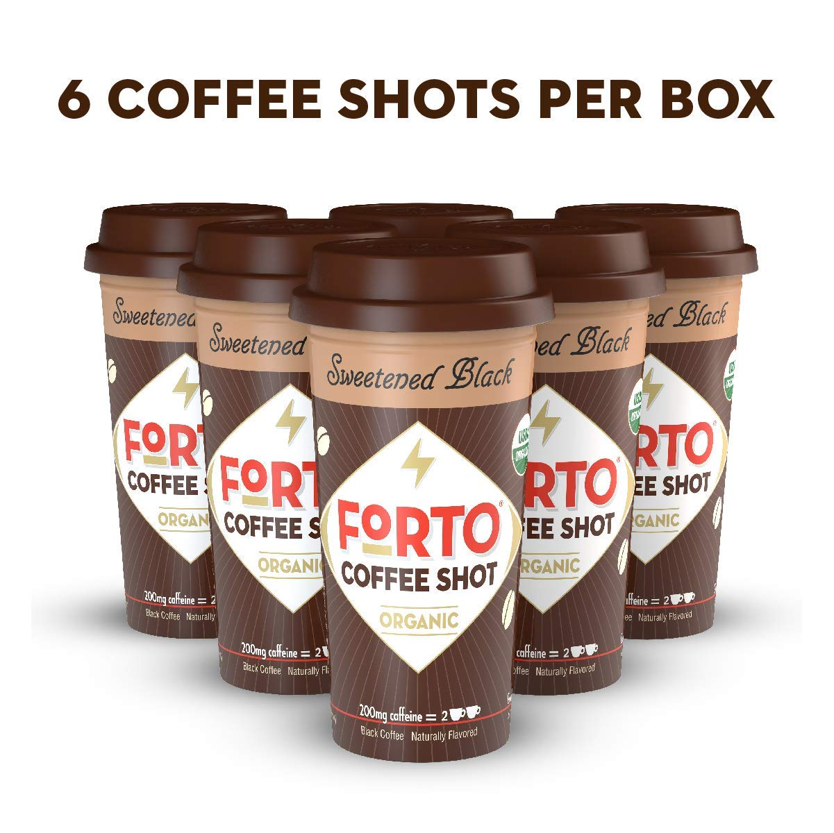 FORTO Coffee Shots - 200mg Caffeine, Chocolate Latte, Ready-to-Drink on the go, High Energy Cold Brew Coffee - Fast Coffee Energy Boost, (6 count) (Pack of 4)
