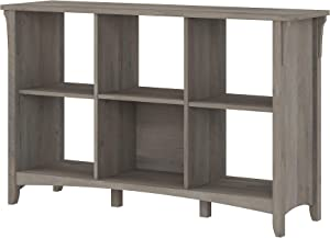 Bush Furniture Salinas 6 Cube Organizer, Driftwood Gray