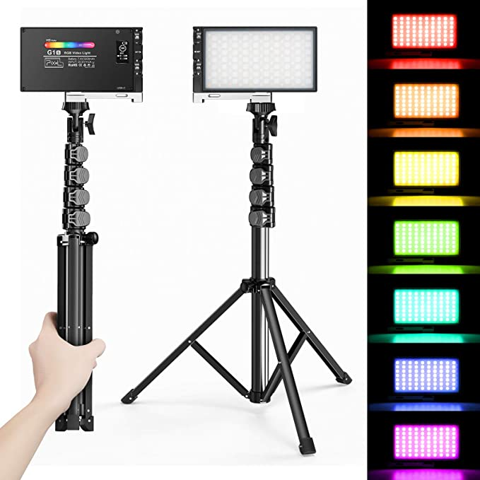 Pixel G1s RGB Video Lighting with Portable Tripod Stand