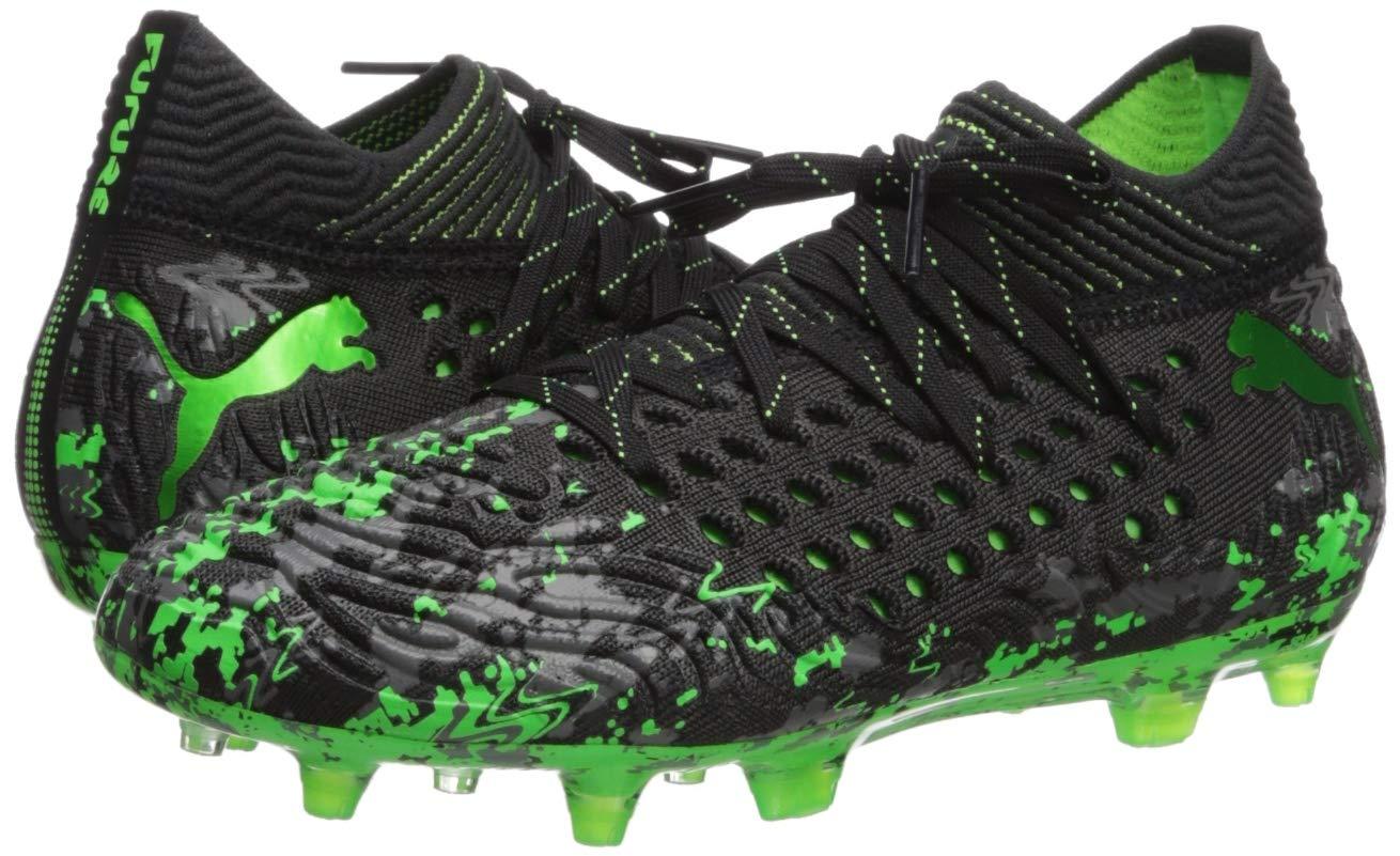PUMA Unisex Future 19.1 Netfit FG/AG JR Sneaker, Black-Charcoal Gray-Green Gecko, 5 M US Big Kid by PUMA (Image #6)