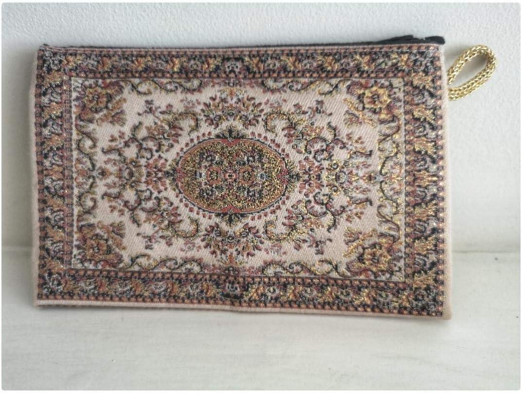 T/ürkische M/ünzb/örse//Mini-Schminktasche 10 cm x 15 cm besticktes Ethnisches Kilim-Design