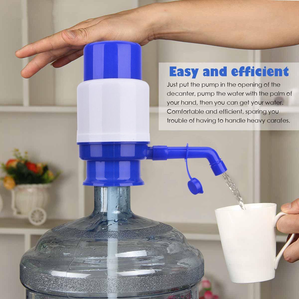 TankerStreet Bomba Dispensador de Agua Bomba de Manual Universal Sin BPA Compatible con Agua Embotellada Garrafas Botellas 2.5L/3L/5L/6L/8L/10L Usar en Casa ...