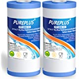 PUREPLUS 5 Micron 10' x 4.5' Whole House Big Blue Sediment and Activated Carbon Water Filter Replacement Cartridge for…