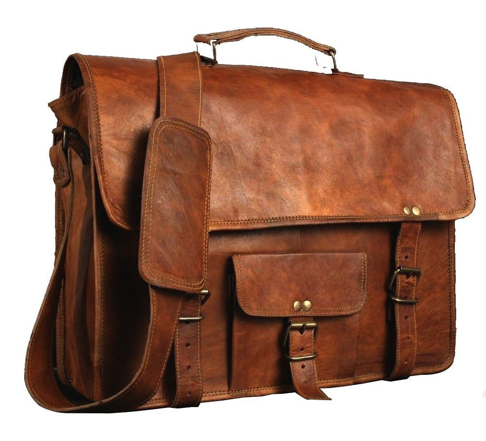leather messenger bag, handmade satchel bag, office laptop bag, personalized gift for him and her ANUENT ANU.786.60