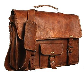 30c0f1f629 Cuir Sacs en cuir Sac à bandoulière pour homme et femme, vintage Business  sacoche pour ordinateur ...