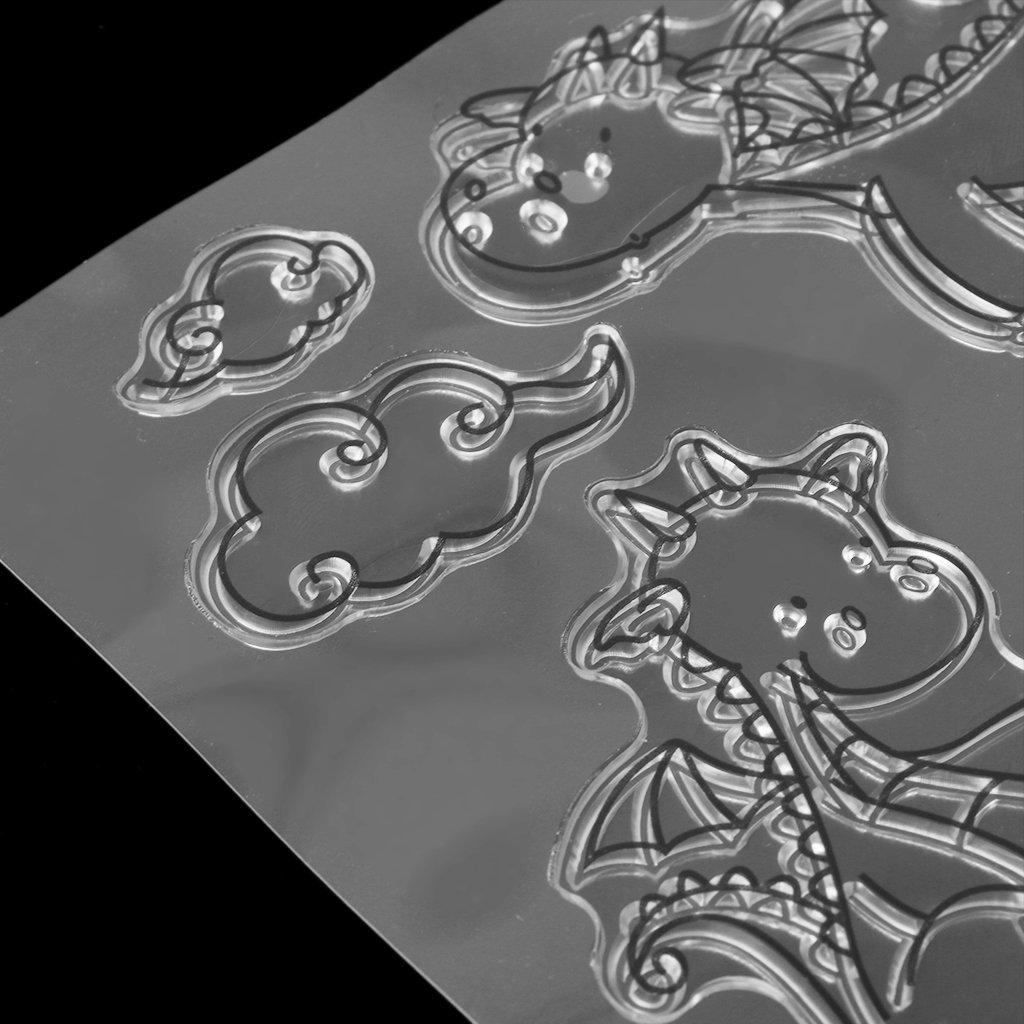 Milue Cartoon Dragon Transparent Stamp Silicone Seal DIY Scrapbook Diary Album Card S9