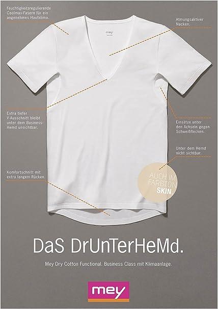 Weiss oder Skin 3 x MEY Dry Cotton Functional 46038 Business-Shirt Dreierpack