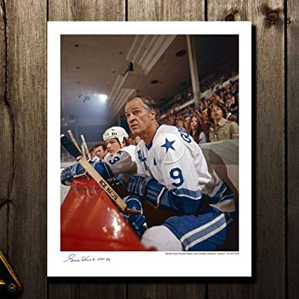 90171ad33b6 Image Unavailable. Image not available for. Color: Autographed Gordie Howe  Picture - Houston Aeros ...