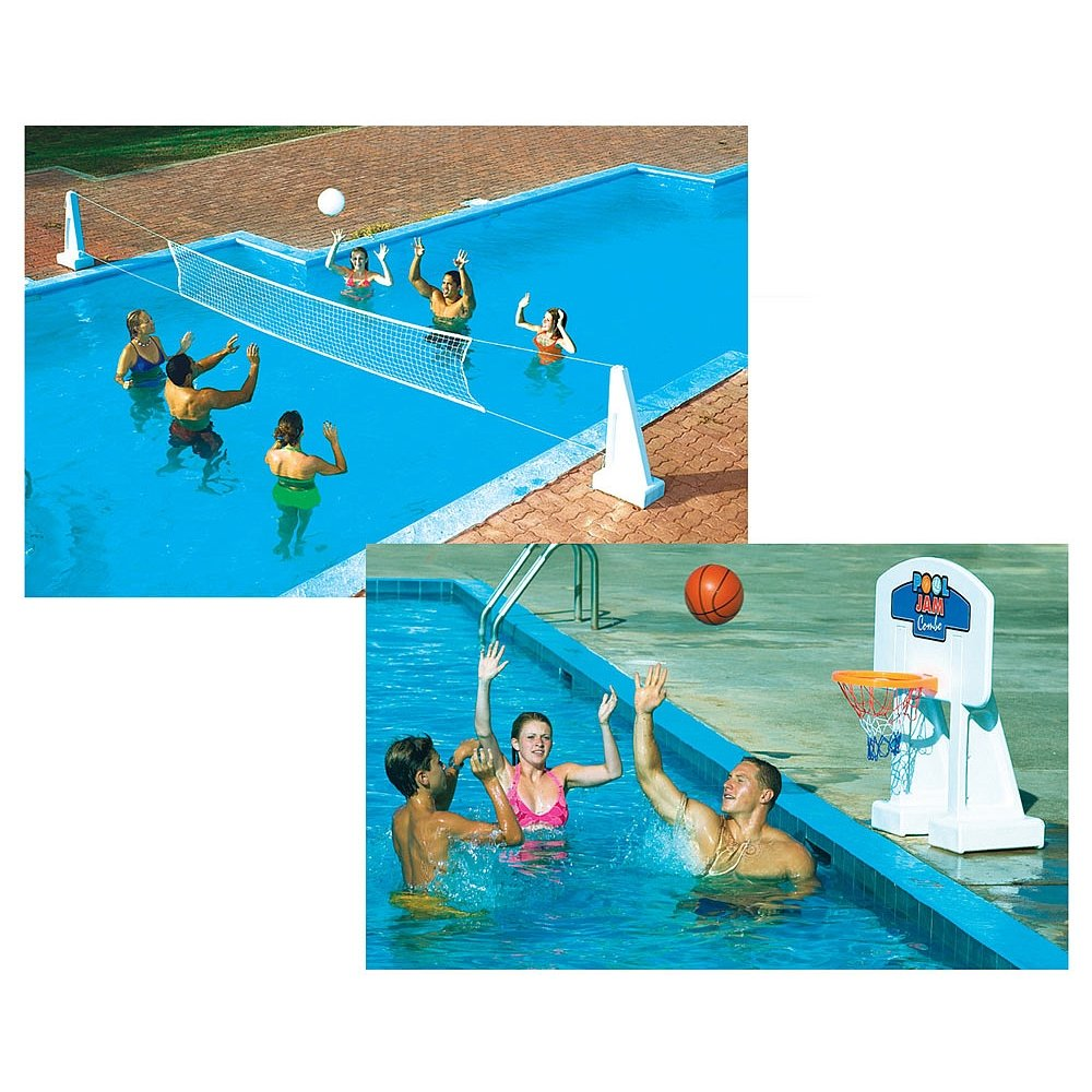 Swimline Pool Volleyball and Pool Basketball Game Combo by Swimline