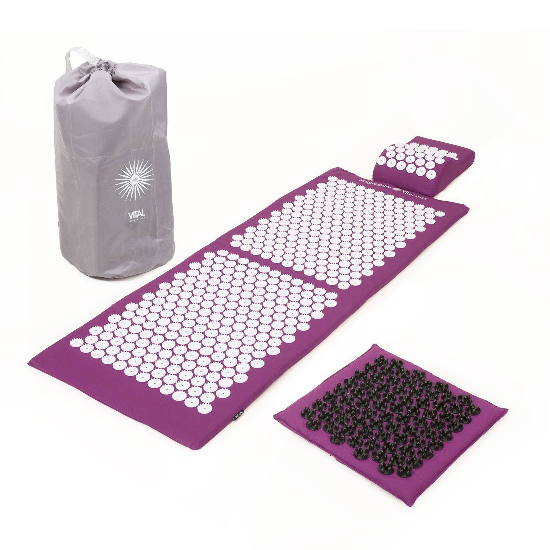 Kit d'acupression VITAL XL DELUXE SOFT - tapis XL + coussin + tapis pour les pieds SOFT + sac de transport product image