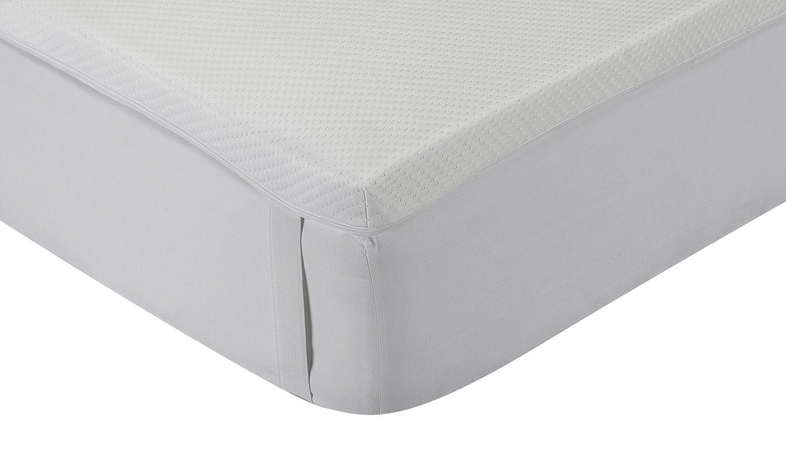 Classic Blanc - Topper, sobrecolchón viscoelástico aloe vera, desenfundable, firmeza media, 180