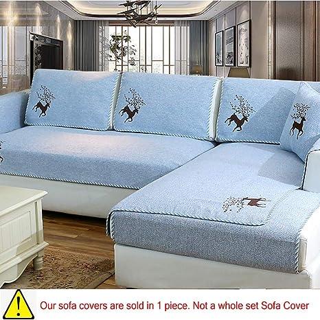 Amazon.com: BATSDCB Linen Couch Protector, Thicken Non-Slip ...