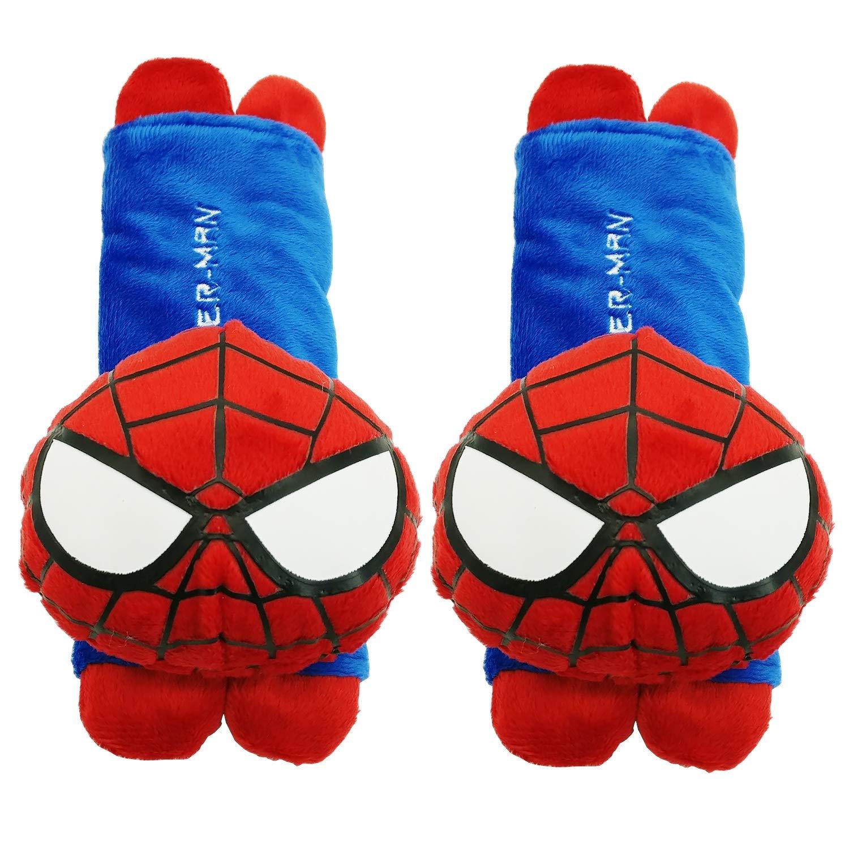 Mykubi spider-man Cute Cartoon Automotive Vehicle Car Safety Seatbelt Cover Soft Plush Padded Seat Beltush by Mykubi