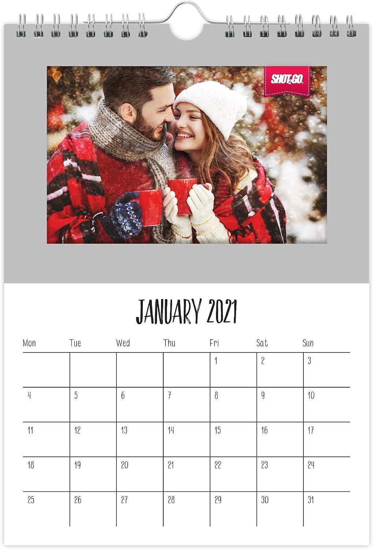 Shot2go 2021 Calendario fotografico da appendere argento   Può