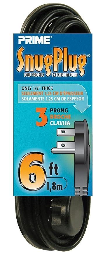 Prime Wire & Cable EC932606 Snug Plug Extension Cord - - Amazon.com