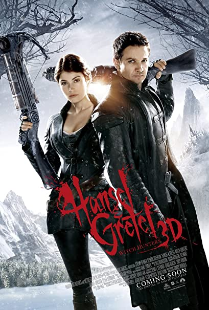 Poster of Hansel & Gretel Witch Hunters 2013 Full Hindi Dual Audio Movie Download BluRay 720p