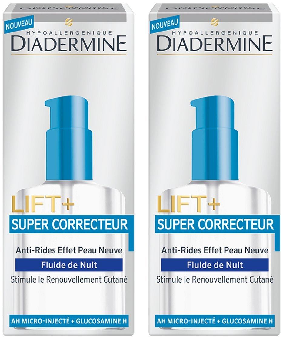 Diadermine Lift Cuidado Noche Anti Tareas/Súper Corrector Fluid 50 ml - Lote de 2