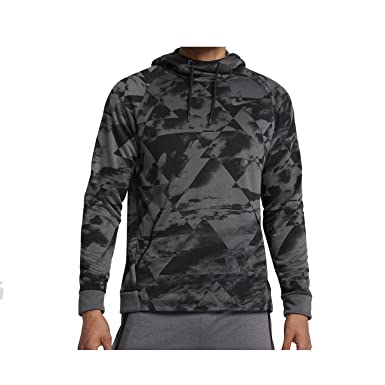 sports shoes b3bf2 c3b71 Nike Mens Dry-Fit Hyper Fleece Training Hoodie Sweatshirt Dark Grey Black  860505-