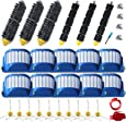 Amyehouse Parts Bristle & Flexible Brushes & Filters & Side Brush & Cleaning Tools for iRobot Roomba 600 Series 550 560 614 620 630 650 660 665 680 690 695 Vacuum Accessories