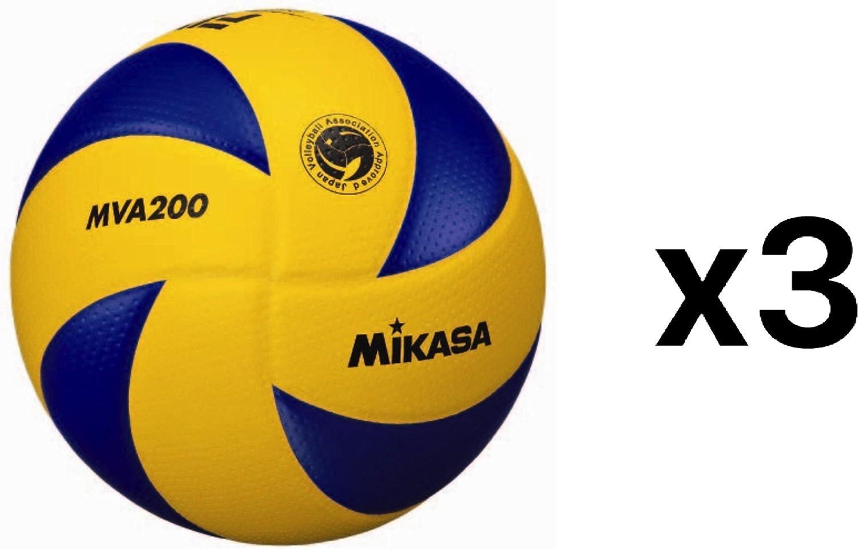 ミカサFivbバレーボール公式2016オリンピックゲームボールディンプルサーフェス(3 - Pack)