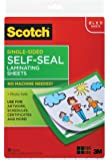 Scotch 9 x 12 Inches Laminating Sheets Letter Size Single Sided, 50 Pouches (SF854-1B), Clear. (LS854SS-50)
