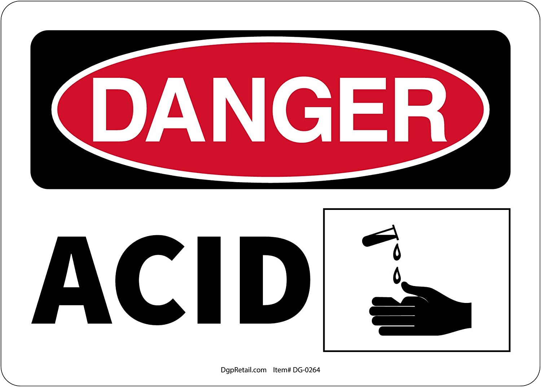 OSHA DANGER SAFETY SIGN ACID